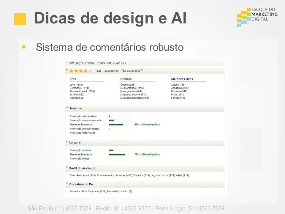 Sistema de comentários robusto Dicas de design e AI São Paulo (11) 4063 7208 | Recife (81) 4062 9373 | Porto Alegre (51) 4063 7208