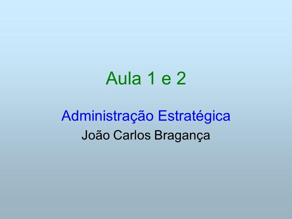Aula 1 e 2 Administração Estratégica João Carlos Bragança