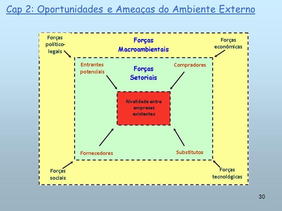 30 Cap 2: Oportunidades e Ameaças do Ambiente Externo