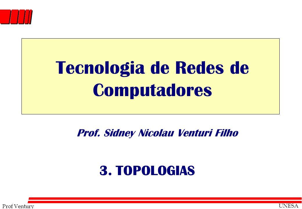Prof Ventury UNESA Prof. Sidney Nicolau Venturi Filho 3. TOPOLOGIAS Tecnologia de Redes de Computadores