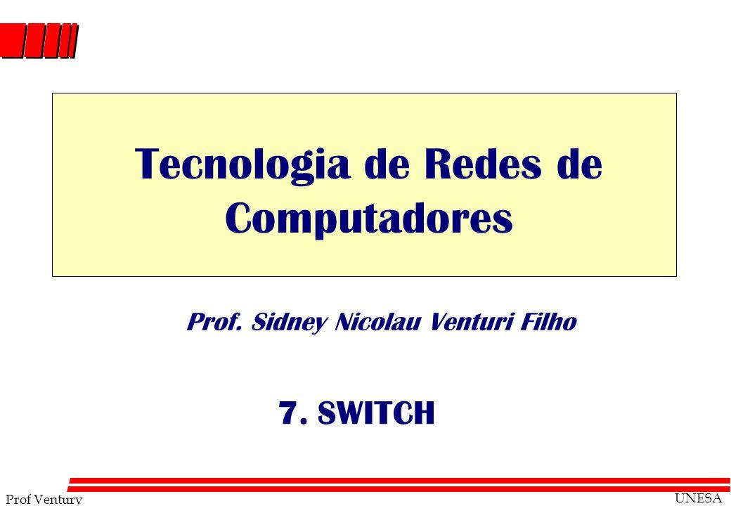 Prof Ventury UNESA Prof. Sidney Nicolau Venturi Filho 7. SWITCH Tecnologia de Redes de Computadores