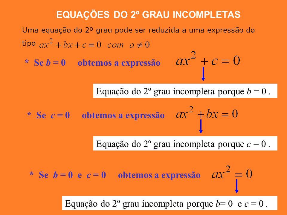 a) EQUAÇÕES DO 2º GRAU A forma CANÓNICA das equações de grau 2 é: A equação é do 2º grau? Indica o valor de a, b e c. SIM b) NÃO a Coeficiente de Nota