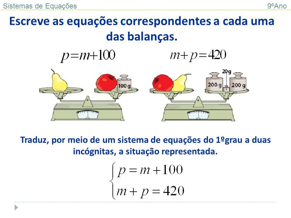 Página 39 Exercício 1 Exercício 2 Sistemas de Equações 9ºAno