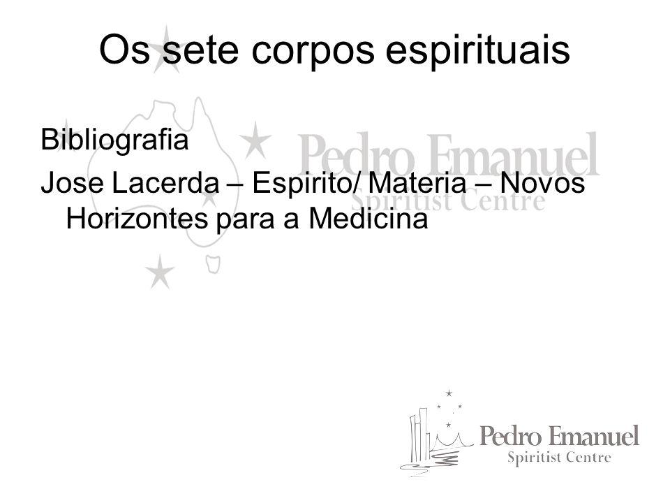 Os sete corpos espirituais Bibliografia Jose Lacerda – Espirito/ Materia – Novos Horizontes para a Medicina