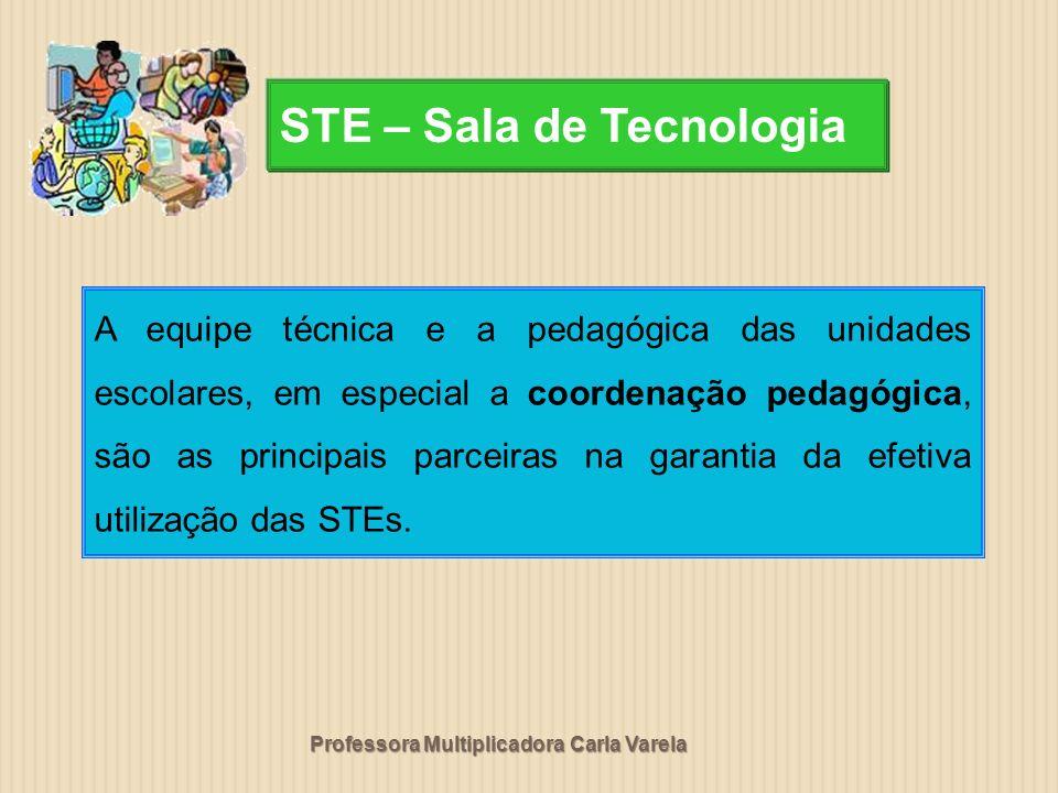 Professora Multiplicadora Carla Varela A equipe técnica e a pedagógica das unidades escolares, em especial a coordenação pedagógica, são as principais