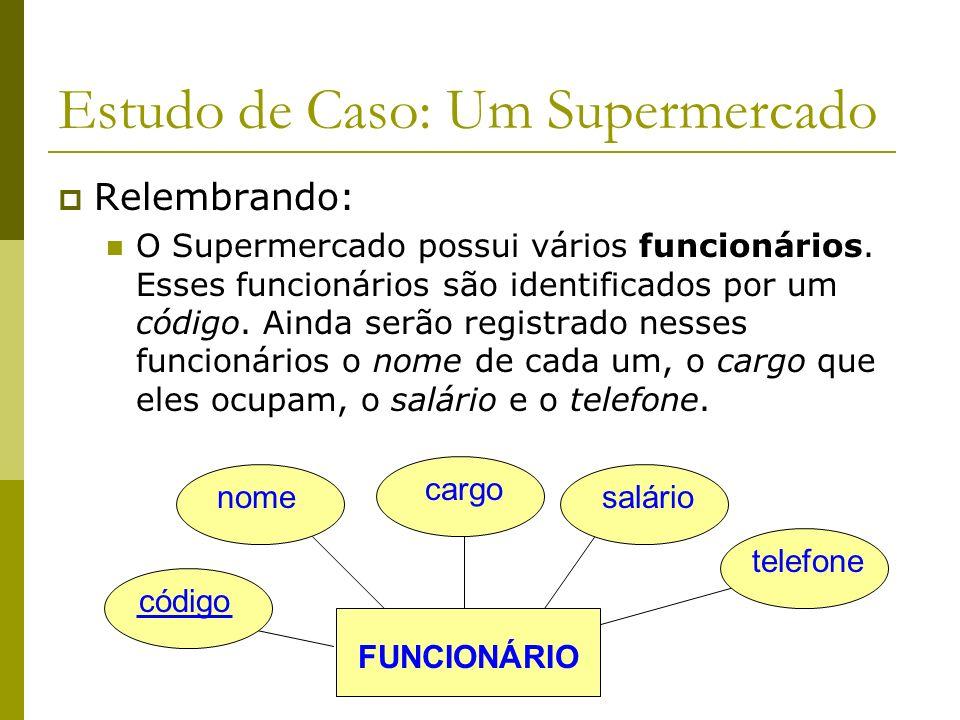 Estudo de Caso: Um Supermercado Próximo Passo: Identificar as entidades e seus atributos