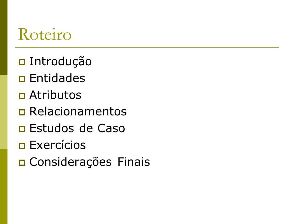 Modelo Entidade-Relacionamento Marcos Cardoso Junior marcos.cardoso@gmail.com