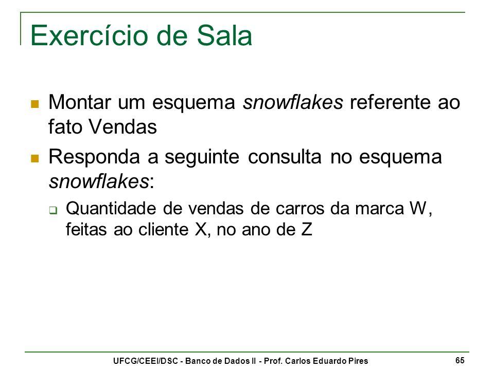 UFCG/CEEI/DSC - Banco de Dados II - Prof.