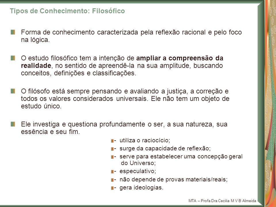 MTA – Profa Dra Cecilia M V B Almeida Contribuições da Filosofia: Matemática Os números como as questões filosóficas são abstratos, mas são aplicados à realidade.