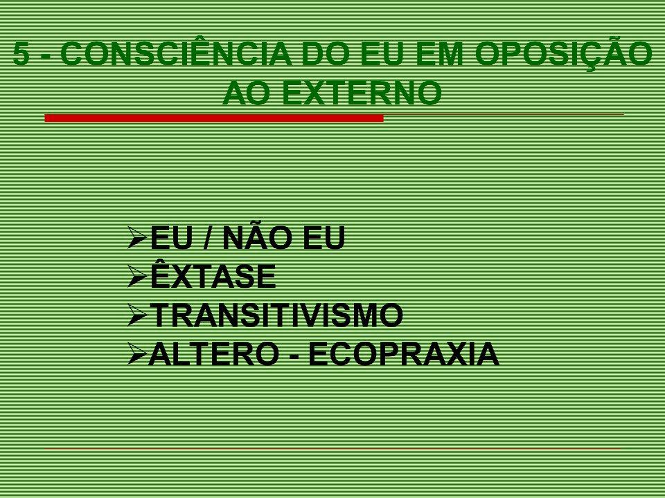 EU / NÃO EU ÊXTASE TRANSITIVISMO ALTERO - ECOPRAXIA 5 - CONSCIÊNCIA DO EU EM OPOSIÇÃO AO EXTERNO