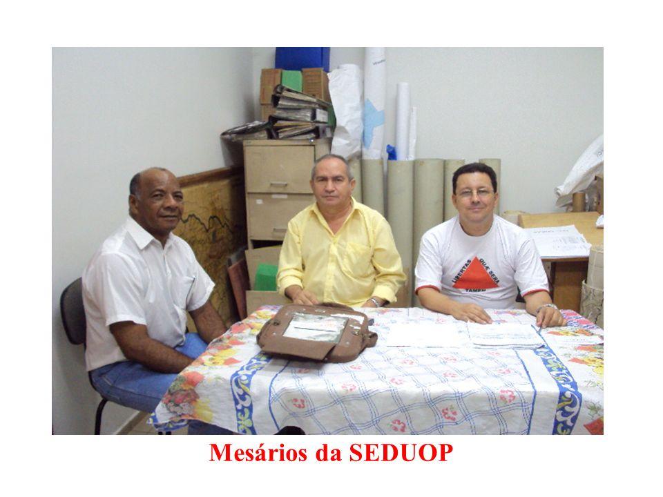 Mesários da SEDUOP