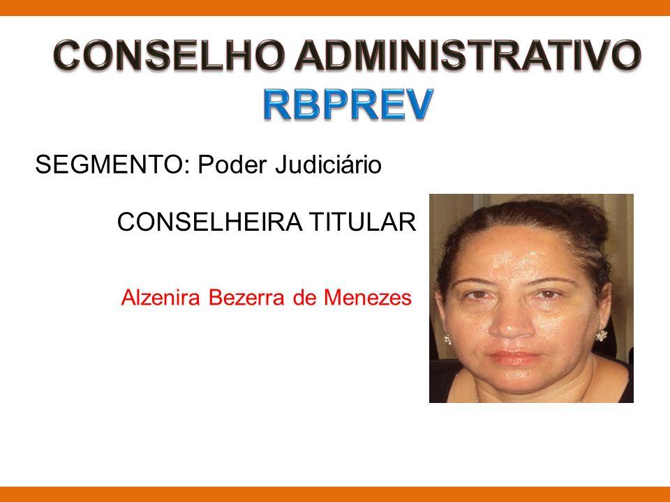 SEGMENTO: Poder Judiciário CONSELHEIRA TITULAR Alzenira Bezerra de Menezes