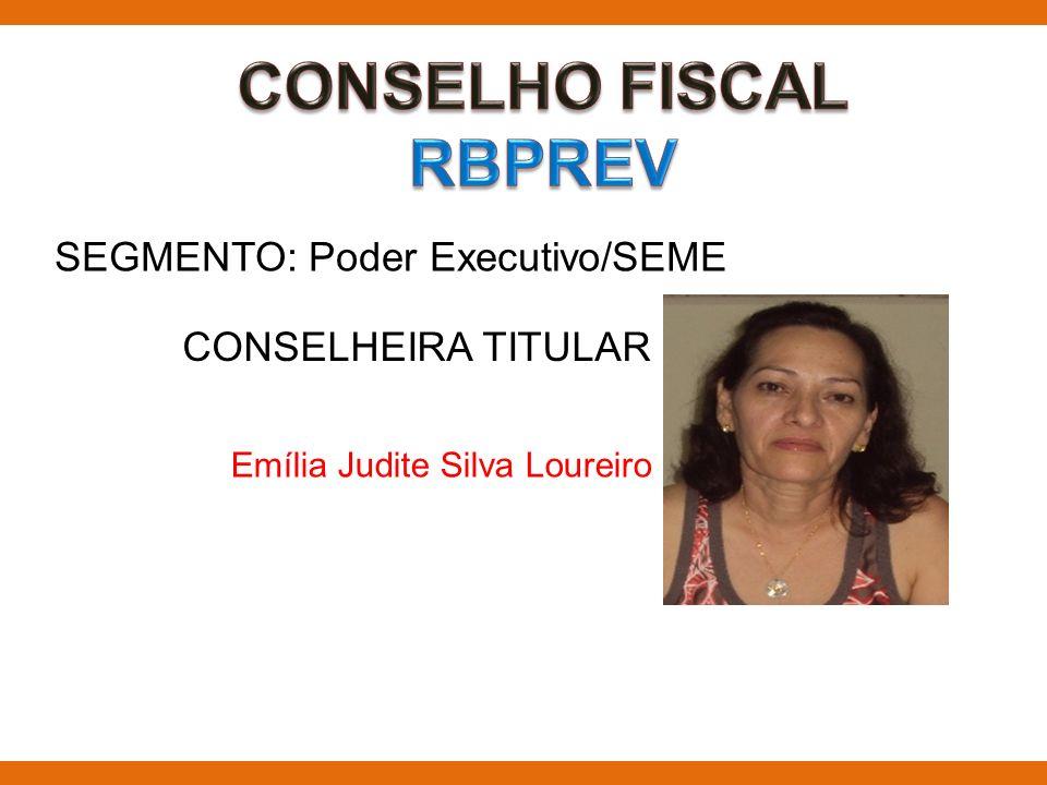 SEGMENTO: Poder Executivo/SEME CONSELHEIRA TITULAR Emília Judite Silva Loureiro