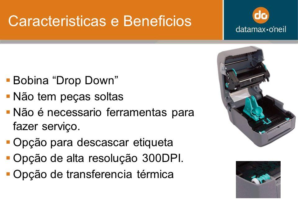 Caracteristicas e Beneficios Bobina Drop Down Não tem peças soltas Não é necessario ferramentas para fazer serviço.