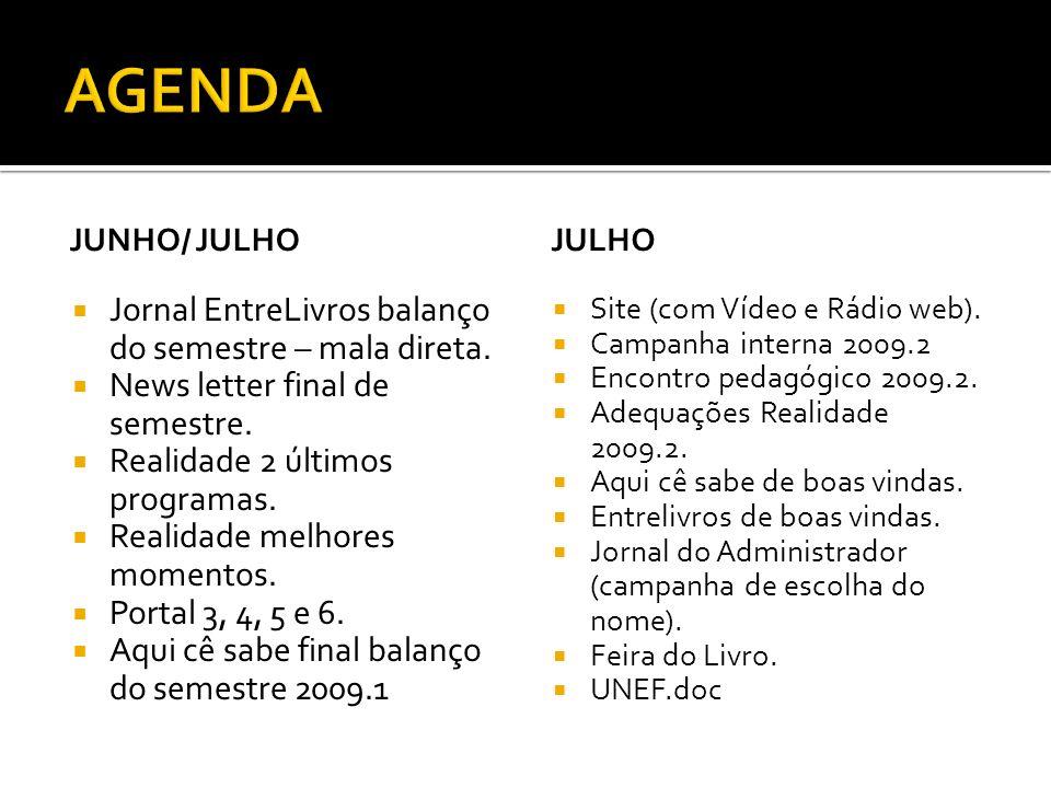 JUNHO/ JULHO Jornal EntreLivros balanço do semestre – mala direta.