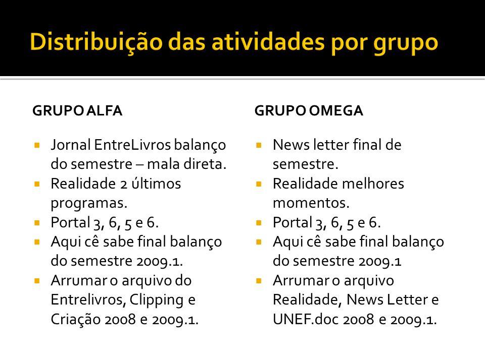 GRUPO ALFA Jornal EntreLivros balanço do semestre – mala direta.