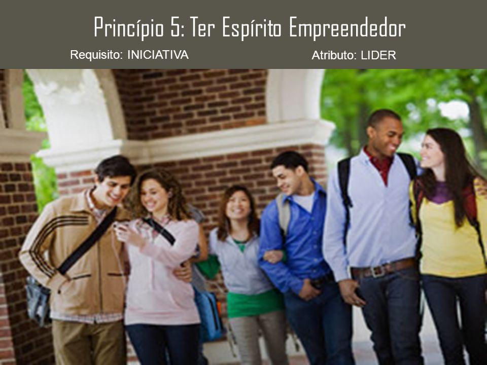 Princípio 5: Ter Espírito Empreendedor Requisito: INICIATIVA Atributo: LIDER