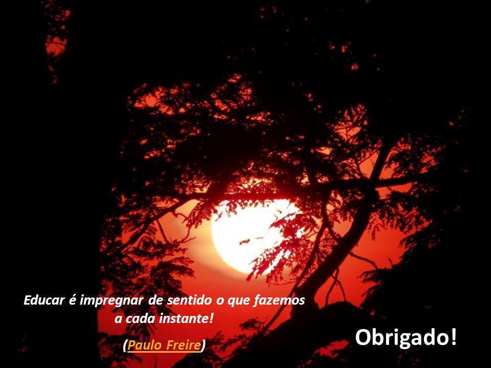 Obrigado! Educar é impregnar de sentido o que fazemos a cada instante! (Paulo Freire)Paulo Freire