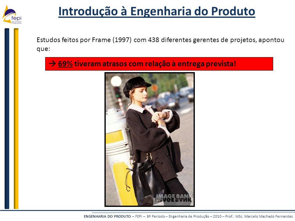ENGENHARIA DO PRODUTO – FEPI – 8º Período – Engenharia de Produção – 2010 – Prof.: MSc. Marcelo Machado Fernandes Introdução à Engenharia do Produto E
