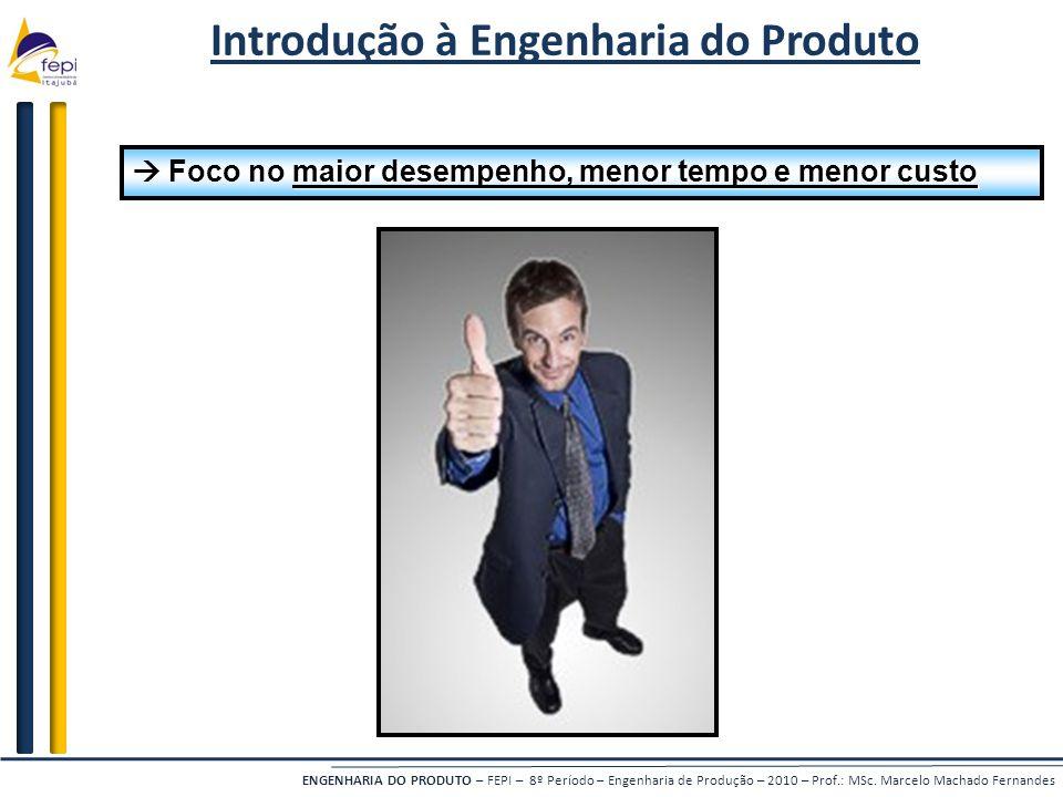 ENGENHARIA DO PRODUTO – FEPI – 8º Período – Engenharia de Produção – 2010 – Prof.: MSc. Marcelo Machado Fernandes Introdução à Engenharia do Produto m