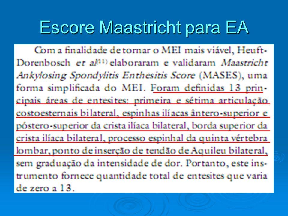 Escore Maastricht para EA