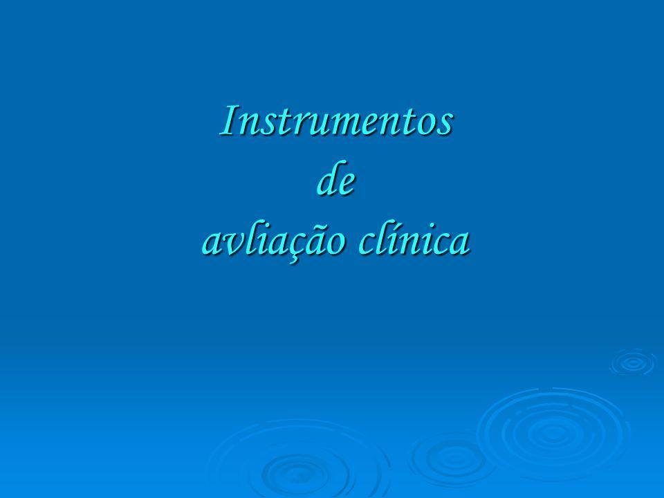 Instrumentos de avliação clínica