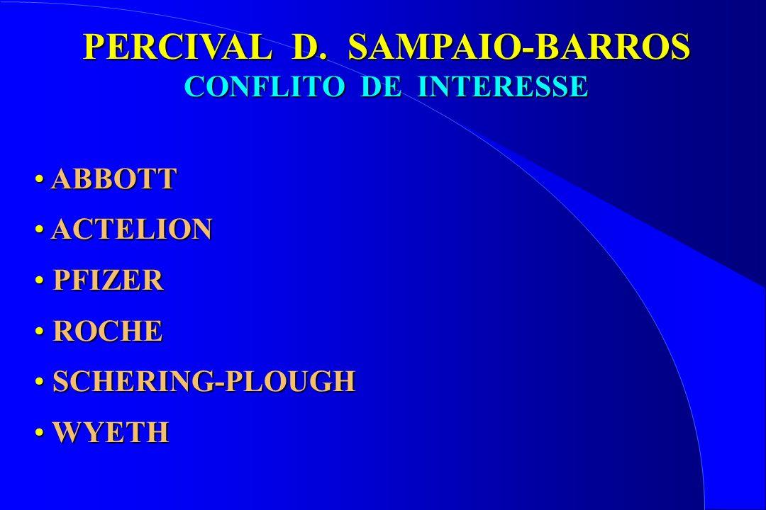 ABBOTT ABBOTT ACTELION ACTELION PFIZER PFIZER ROCHE ROCHE SCHERING-PLOUGH SCHERING-PLOUGH WYETH WYETH PERCIVAL D. SAMPAIO-BARROS CONFLITO DE INTERESSE