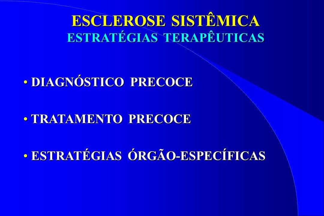 DIAGNÓSTICO PRECOCE DIAGNÓSTICO PRECOCE TRATAMENTO PRECOCE TRATAMENTO PRECOCE ESTRATÉGIAS ÓRGÃO-ESPECÍFICAS ESTRATÉGIAS ÓRGÃO-ESPECÍFICAS ESCLEROSE SI