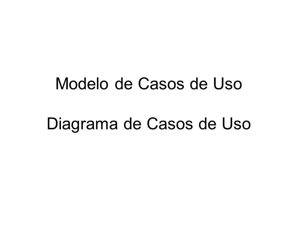 Modelo de Casos de Uso Diagrama de Casos de Uso