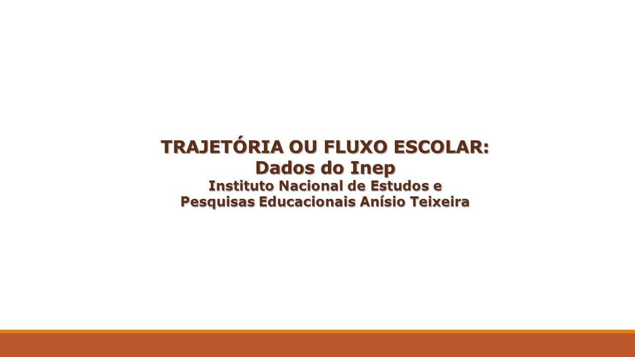 TRAJETÓRIA OU FLUXO ESCOLAR: Dados do Inep Instituto Nacional de Estudos e Pesquisas Educacionais Anísio Teixeira