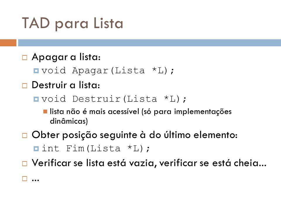 Lista Estática Sequencial C++ int List::Localizar(Elem* x){ /* Retorna a posição de x na Lista.