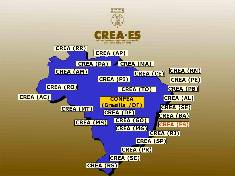 CREA (BA) CREA (SE) CREA (AL) CREA (PE) CREA (PB) CREA (MA) CREA (TO) CREA (AP) CREA (PA) CREA (RR) CREA (AM) CREA (AC) CREA (RO) CREA (MS) CREA (GO)