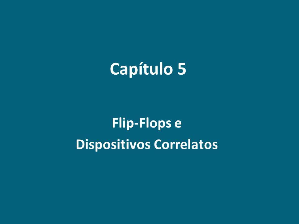Conteúdo Programático Capítulo 5 – Flip-Flops e Dispositivos Correlatos 5.1 Circuitos Seqüenciais.