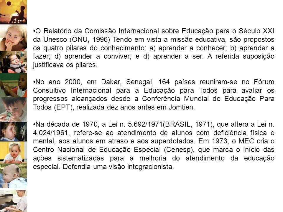 O Relatório da Comissão Internacional sobre Educação para o Século XXI da Unesco (ONU, 1996) Tendo em vista a missão educativa, são propostos os quatr