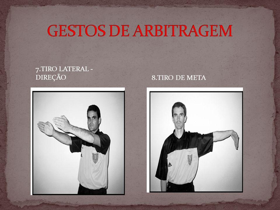 7.TIRO LATERAL - DIREÇÃO 8.TIRO DE META