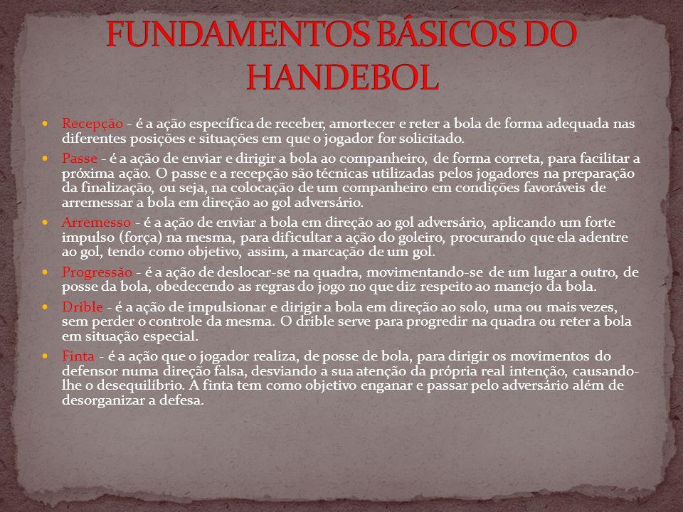 No andebol são usados sistemas defensivos como o 3x2x1, 5x1, 6x0, 4x2, 3x3 e 1x5.