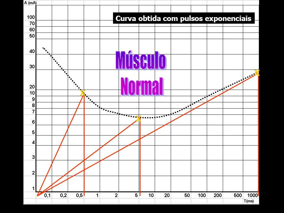 X X X Curva obtida com pulsos exponenciais