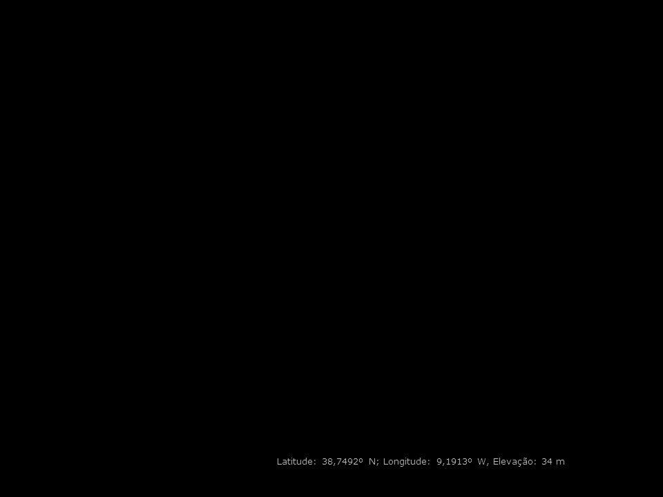 Latitude: 38,7492º N; Longitude: 9,1913º W, Elevação: 34 m