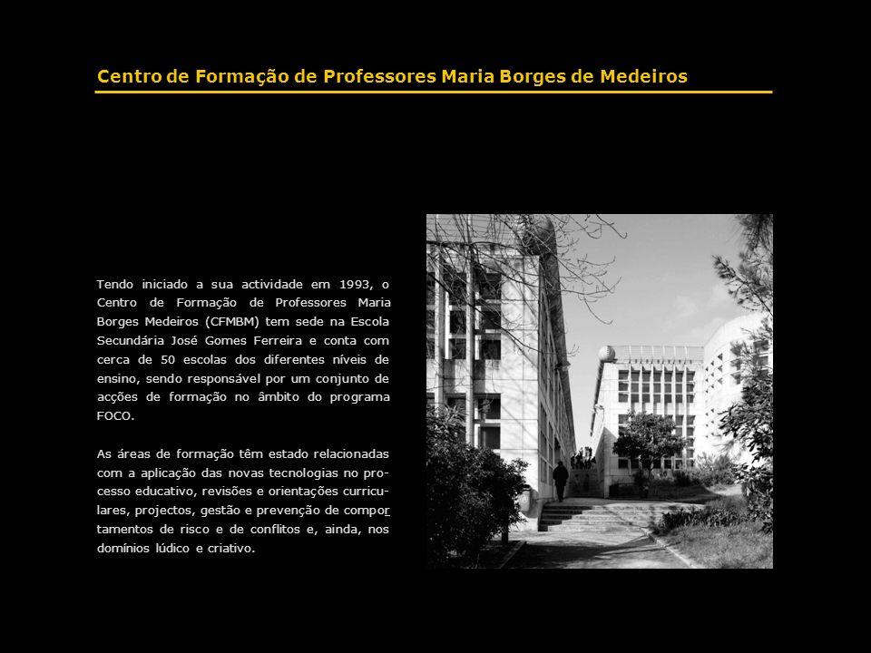 Tendo iniciado a sua actividade em 1993, o Centro de Formação de Professores Maria Borges Medeiros (CFMBM) tem sede na Escola Secundária José Gomes Fe