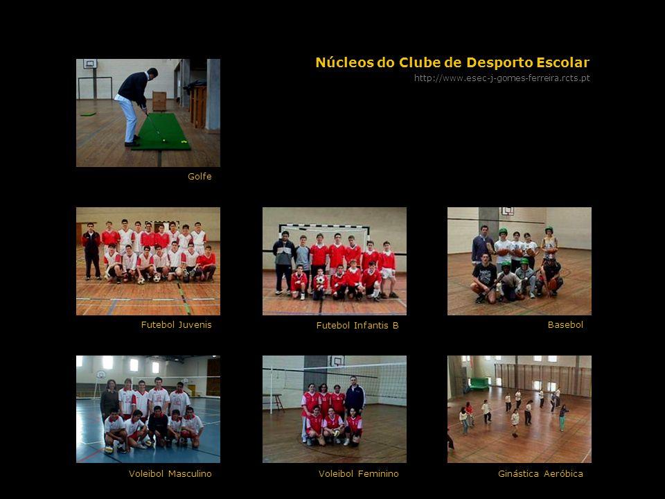 Núcleos do Clube de Desporto Escolar http://www.esec-j-gomes-ferreira.rcts.pt Basebol Futebol Infantis B Futebol Juvenis Ginástica AeróbicaVoleibol Fe