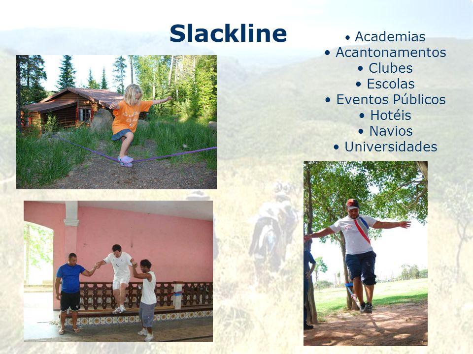 Slackline Academias Acantonamentos Clubes Escolas Eventos Públicos Hotéis Navios Universidades