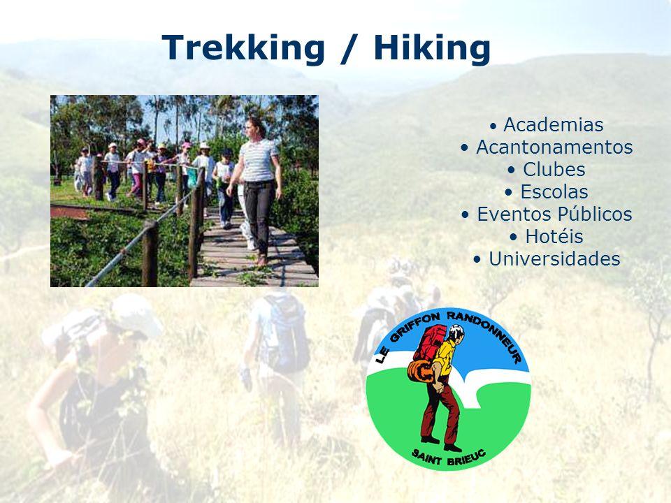 Trekking / Hiking Academias Acantonamentos Clubes Escolas Eventos Públicos Hotéis Universidades