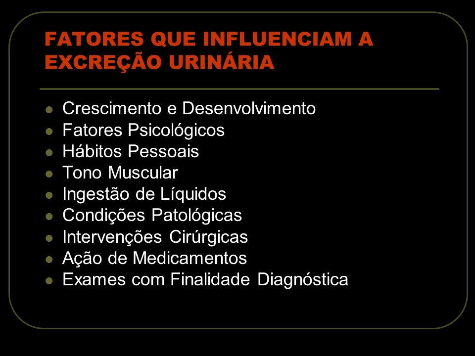 PROBLEMAS FREQUENTES DE EXCREÇÃO URINÁRIA Retenção Urinária Infecção do Trato Urinário Incontinência Urinária Enurese Ureterostomia
