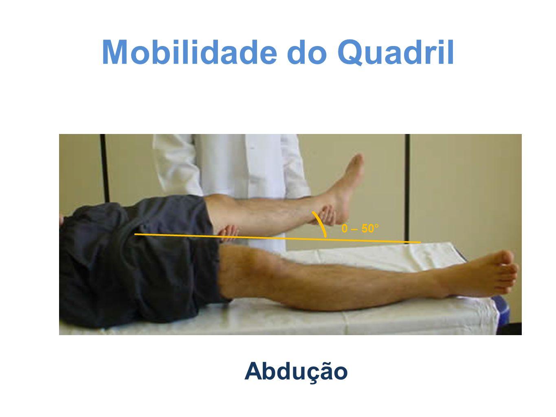 Mobilidade do Quadril Abdução 0 – 50°