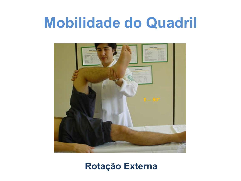 Mobilidade do Quadril Rotação Externa 0 – 50°