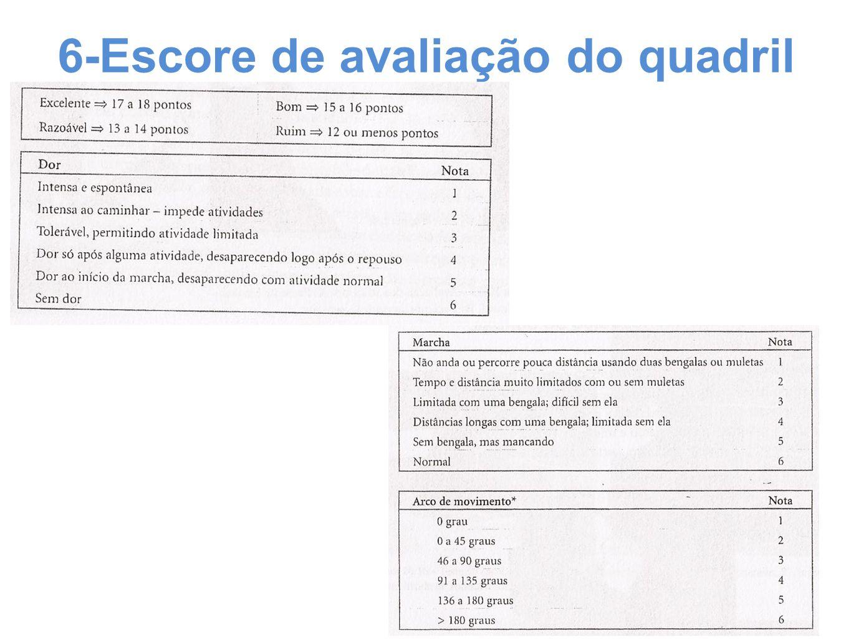 6-Escore de avaliação do quadril