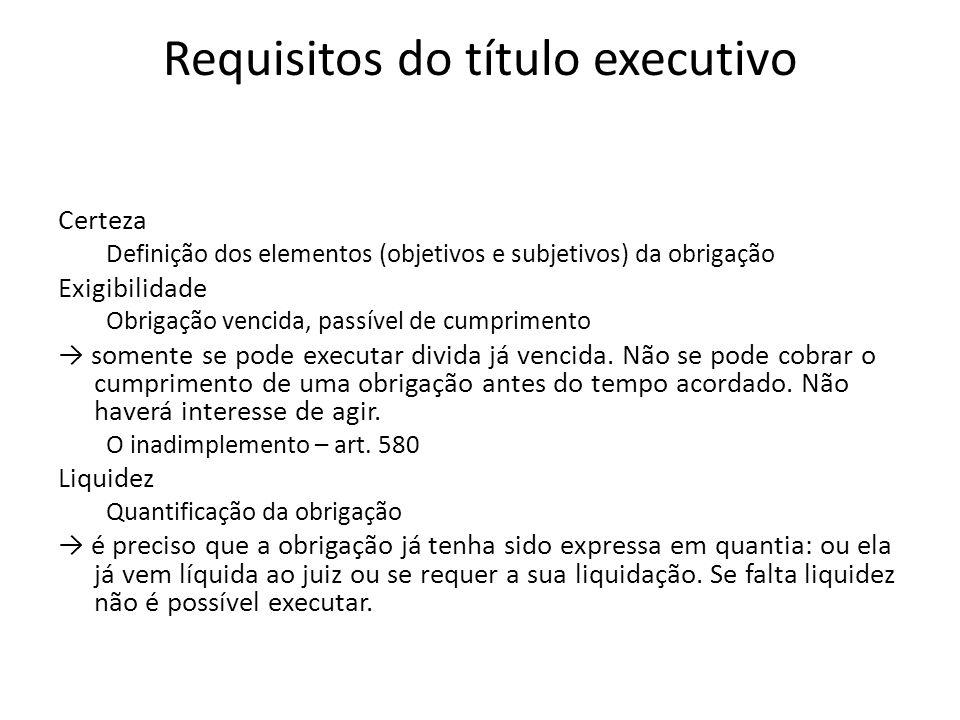 TÍTULOS EXECUTIVOS EXTRAJUDICIAIS São documentos representativos do credito e que podem ser executados sem que haja anterior manifestação judicial sobre seu conteúdo.