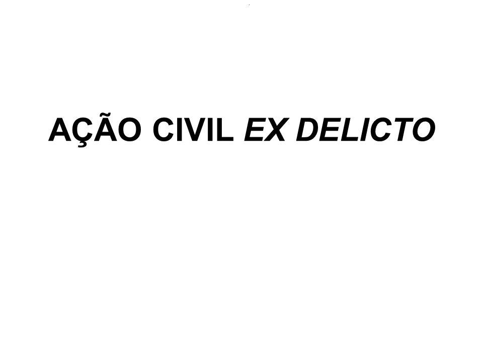 GENERALIDADES: Conceito => é o procedimento judicial voltado à recomposição do dano civil causado pelo crime.