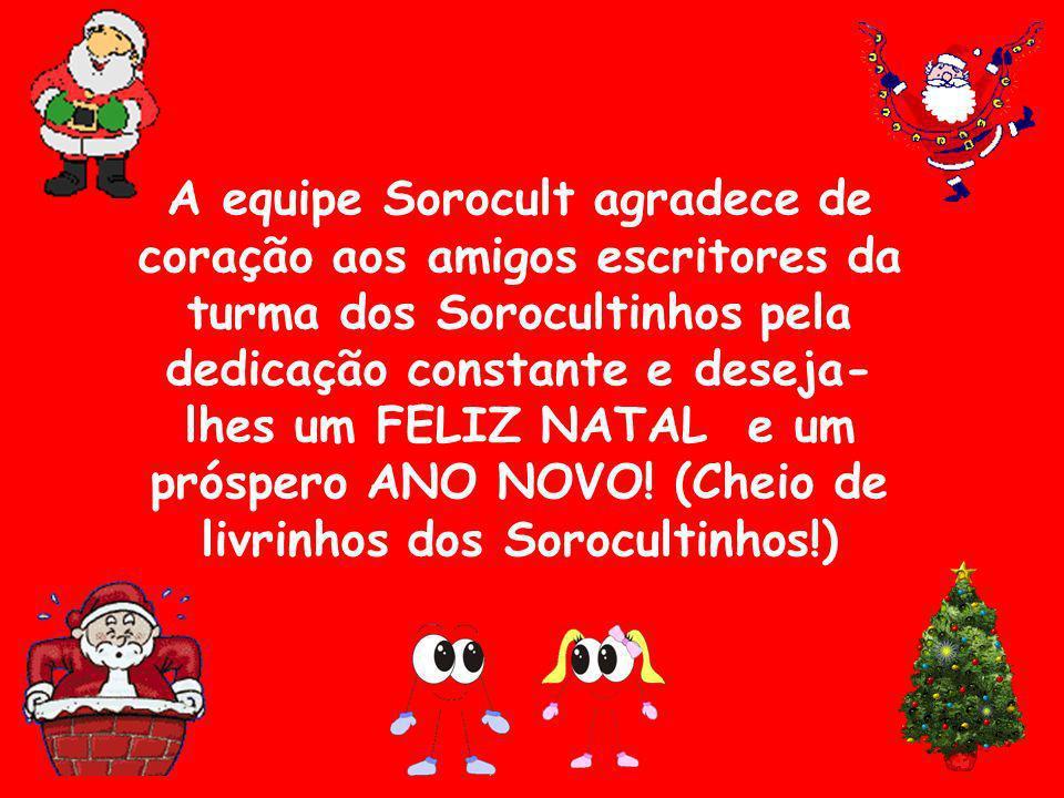A equipe Sorocult agradece de coração aos amigos escritores da turma dos Sorocultinhos pela dedicação constante e deseja- lhes um FELIZ NATAL e um pró