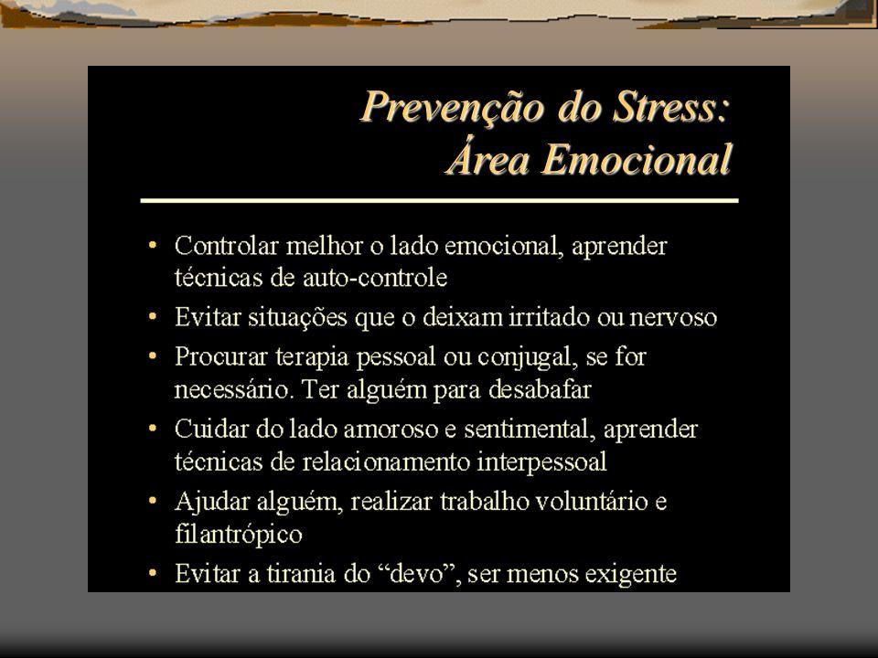 Prevenção do Stress: Área Emocional